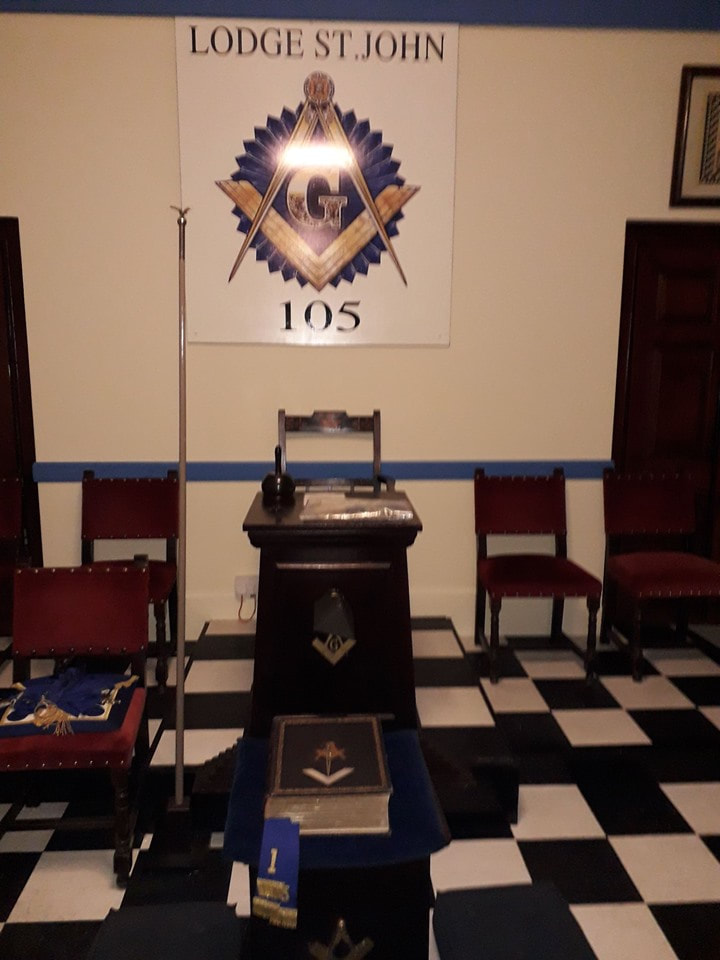 Photo of interior of Coupar Angus Masons Hall